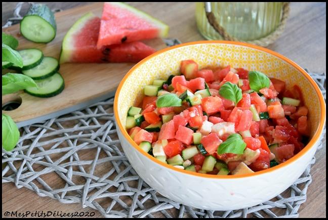 salade fraîcheur à la pastèque 2C Salade fraîcheur à la pastèque