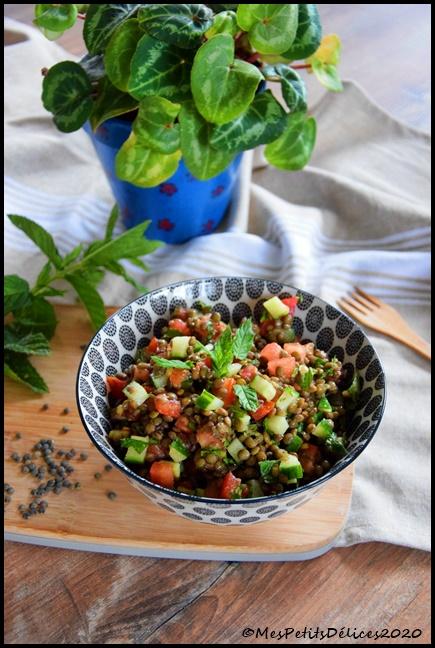salade lentilles menthe 2C Salade façon taboulé aux lentilles vertes