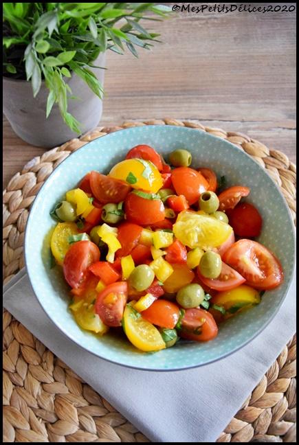salade tomate poivron olive 2C Salade tomate poivron olives