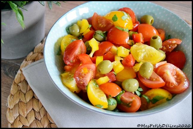 salade tomate poivron olive 4C Salade tomate poivron olives