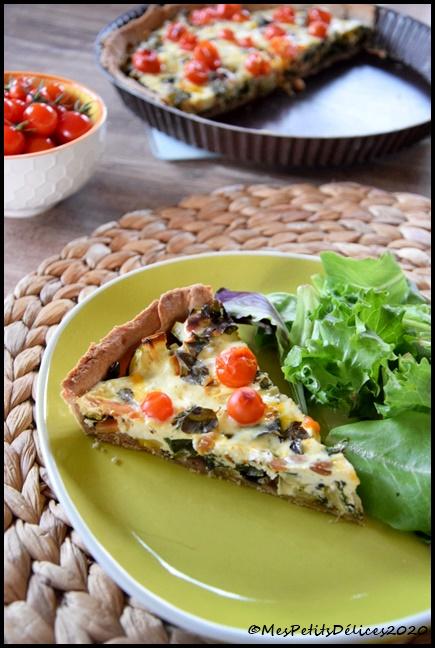tarte légumes ricotta 1C Tarte du jardin : blettes, courgette & tomates cerises