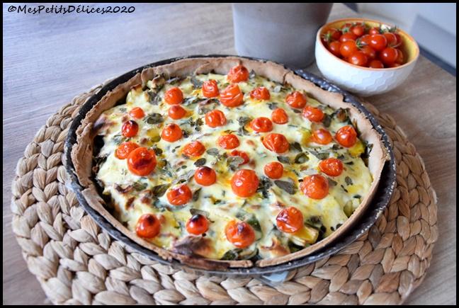 tarte légumes ricotta 3C Tarte du jardin : blettes, courgette & tomates cerises