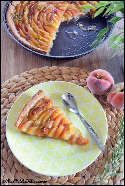 tarte pêche romarin dottolenghi 5C La tarte aux pêches et romarin façon Ottolenghi