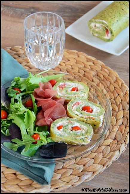Roulé courgette 1C Roulé à la courgette et au fromage frais