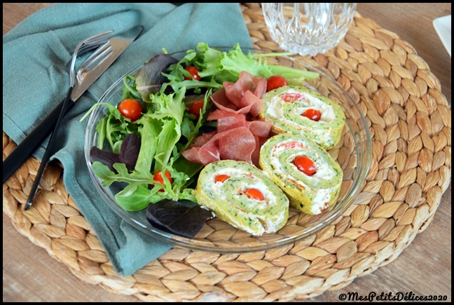 Roulé courgette 3C Roulé à la courgette et au fromage frais
