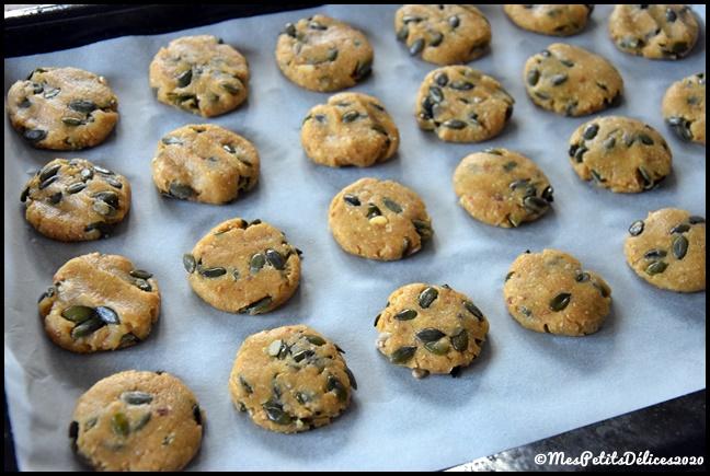 cookies IG bas graines de courge 1C Cookies aux graines de courge (sans sucres libres)