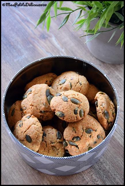 cookies IG bas graines de courge 2C Cookies aux graines de courge (sans sucres libres)