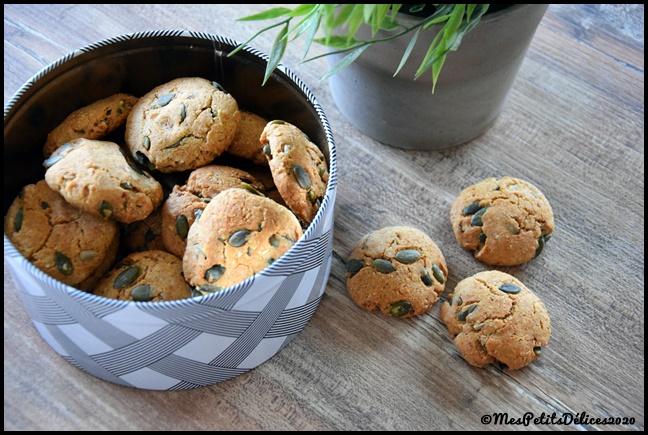 cookies IG bas graines de courge 3C Cookies aux graines de courge (sans sucres libres)