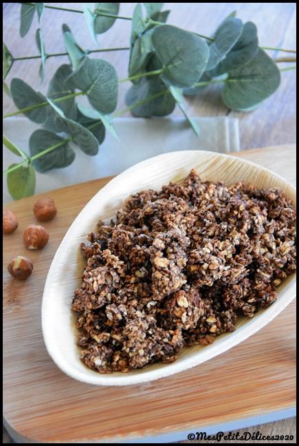granola cholat noisette 1C Granola chocolat noisette