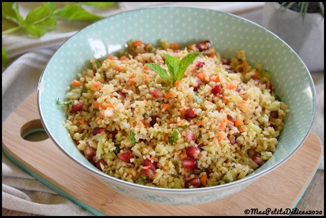 salade boulgour fenouil grenade 1C Salade de boulgour au fenouil et à la grenade
