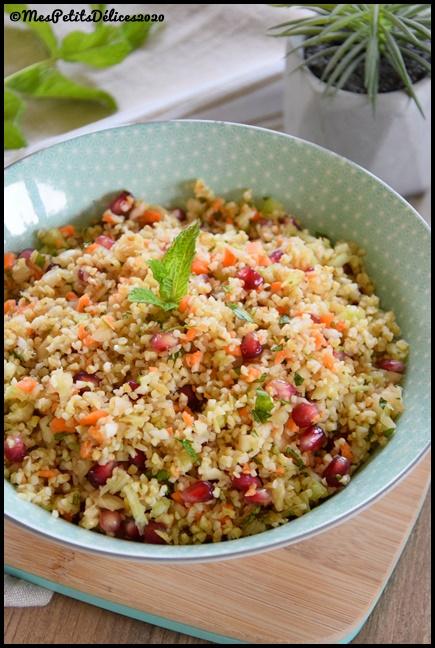 salade boulgour fenouil grenade 2C Salade de boulgour au fenouil et à la grenade