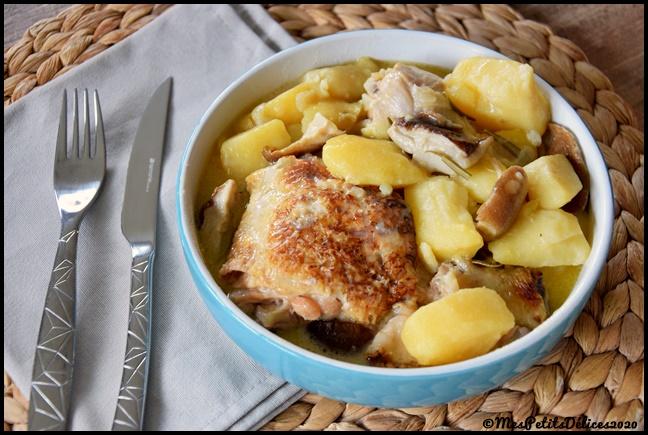 Mijoté de poulet au cèpes 2C Mijoté de poulet aux cèpes