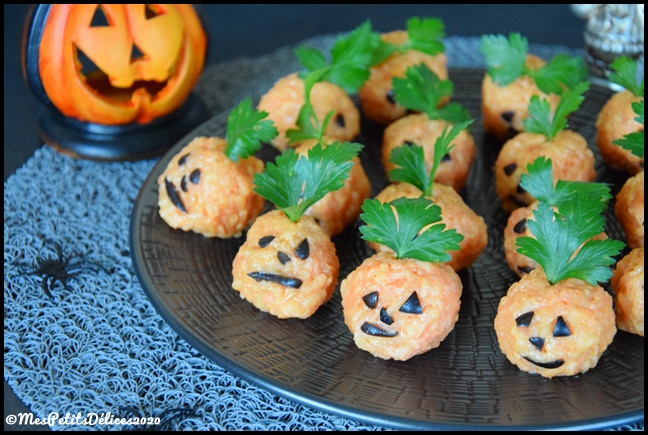 bouchées riz façon citrouille halloween 2C {Halloween} Bouchées de riz façon citrouille