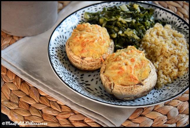 champignons farcis au poulet 2C Champignons farcis au poulet