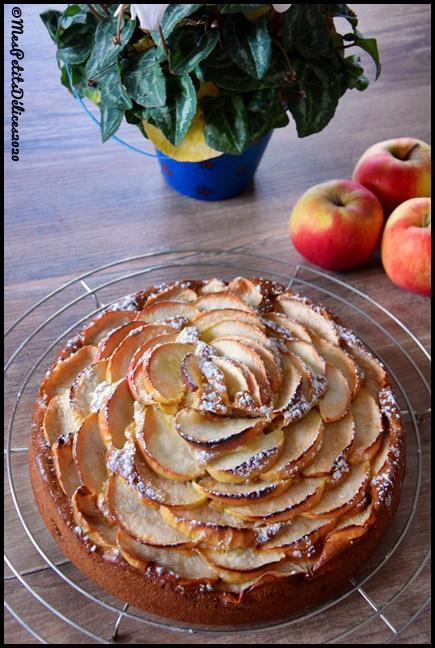 gâteau pommes mascarpone 1C Gâteau moelleux aux pommes et mascarpone