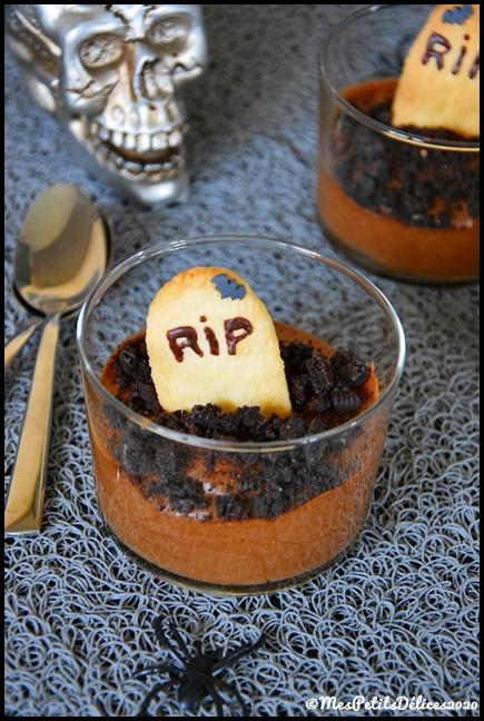 mousse choco cimetière halloween 2C {Halloween} Cimetière chocolaté