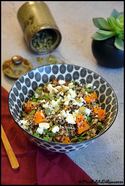 salade dautomne potiron quinoa 2C Salade dautomne : Potiron & quinoa