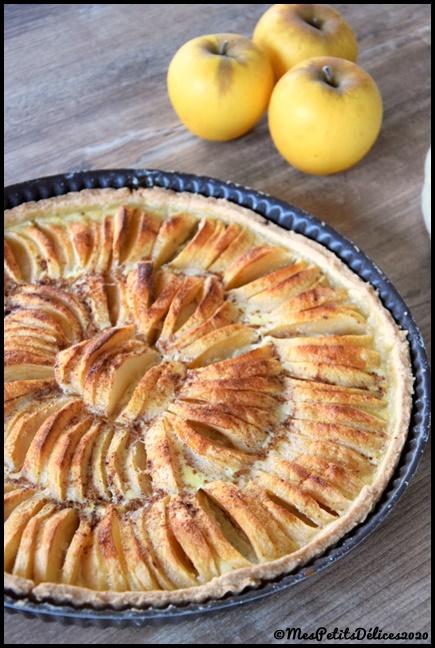 tarte pommes cannelle 1C Tarte aux pommes et à la cannelle