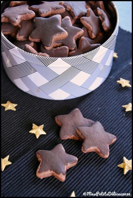 étoiles chocolat 1C {Bredeles} Etoiles au chocolat