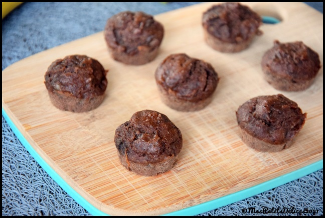 minis muffins façon banana bread choco 2C Minis muffins façon banana bread au chocolat