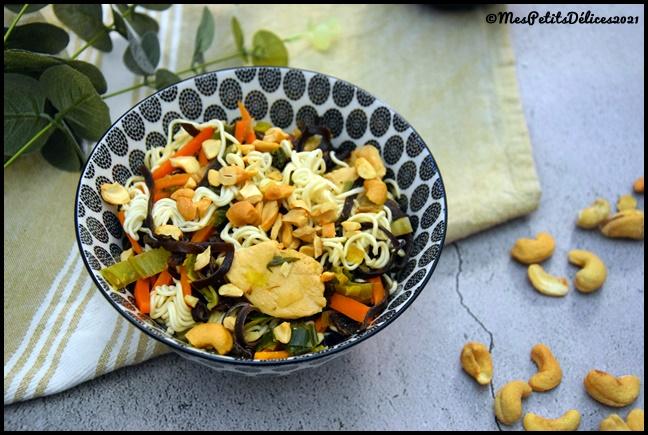 nouilles sautées poulet légumes 3C Nouilles chinoises au poulet et légumes