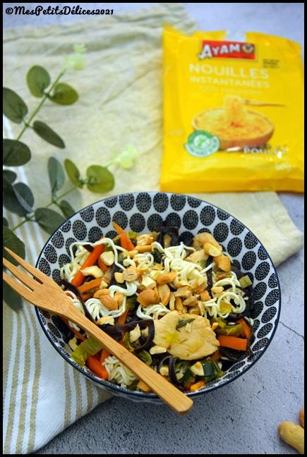 nouilles sautées poulet légumes 5C Nouilles chinoises au poulet et légumes