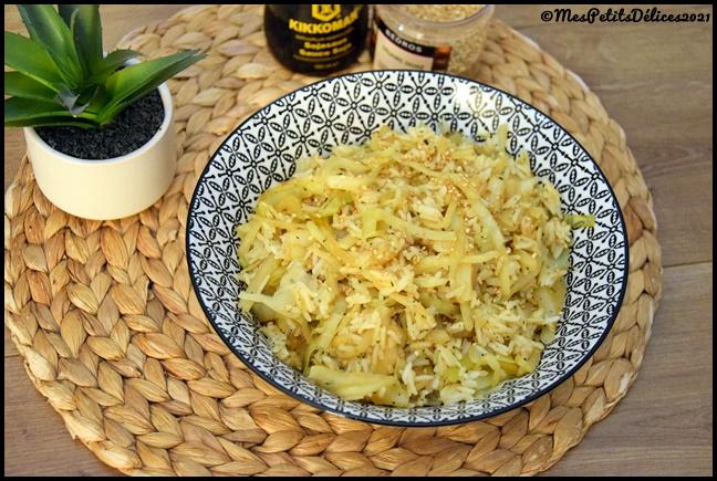 riz chou asiatique 2C Riz asiatique au chou