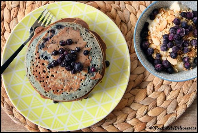 pancakes myrtille 4C Pancakes aux myrtilles