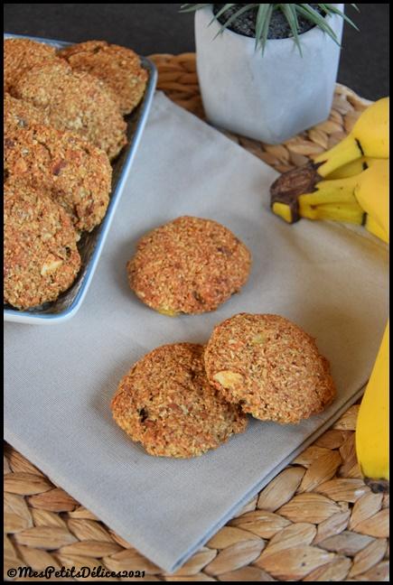 cookies banane coco amande 1C Cookies healthy banane coco amande