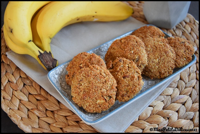 cookies banane coco amande 5C Cookies healthy banane coco amande